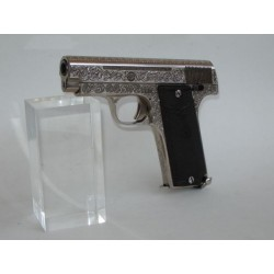 "(WEAPON SOLD)ENGRAVED ""SINGER"" PISTOL,32 ACP"